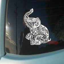 Elephant Car Window Decalelephant Decal Bumper Sticker For Etsy