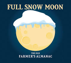 full moon in see the full snow moon the old