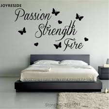 Joyreside Quotes Passion Strength Fire Wall Decal Fashion Vinyl Stickers Words Home Bedroom Art Decor Interior Design Mural A656 Wall Stickers Aliexpress