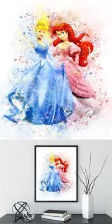 disney princess watercolor cinderella