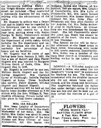 Newspaper Obituary - Mrs. Ida Keller - Newspapers.com