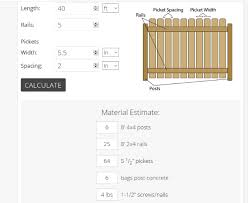 3 Online Fencing Calculator Free Websites