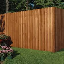 Outdoor Essentials 6 Ft X 6 Ft Pressure Treated Cedar Tone Moulded Wood Unassembled Fence Panel Kit 162523 The Home Depot