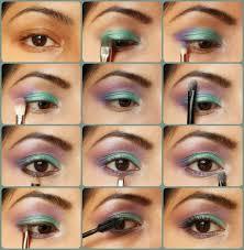 purple green eye makeup cat eye makeup