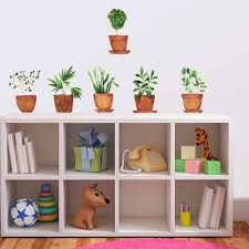 Amazon Com Eureka Kids Potted Plants Wall Decor Removable Peel And Stick Wall Decal Sticker For Baby Room Toddler Kids Bedroom Boys Girls Nursery Classroom Kitchen Bathroom Home Living Room Potted Plants Arts