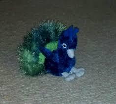 "Aurora Perry PEACOCK 12"" Flopsie Plush Stuffed Animal Bird NEW Aurora"