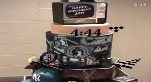 Jay Z Presented With 444 Inspired Cake For His 48th Birthday Video