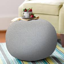 Grey Pouf Ottoman Poufs For Living Room Floor Pouf Pouffe Ottoman Puf Poof For Bedroom And Kids Room 18 X 16 Knit Pouf Pouf Chair Circle Ottoman Grey Walmart Com Walmart Com
