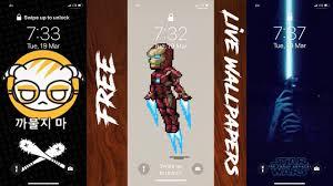 custom live wallpaper on iphone
