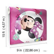 Dy0173bd Disney Kids Iii Minnie Mouse Wall Border Pink Us Wall Decor