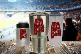 Alabama Crimson Tide Decal For Yeti Cup Alabama Yeti Cup Decal By Redandthepug On Etsy Decals For Yeti Cups Cup Decal Custom Vinyl Decal