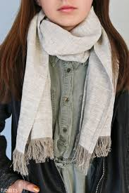diy linen scarf tidbits