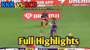 Ipl 2020 KKR vs RCB Full Highlights ...