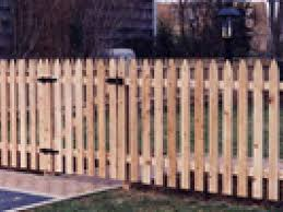 4ft Wood Picket Gatlin Fence