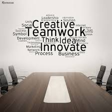 Hot Promo 5a416 Creative Teamwork Vinyl Wall Decal Team Work Office Art Decor Stickers Mural Innovate Inspirational Quote Wall Sticker H557 Cicig Co