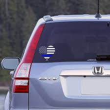 Thin Blue Line Heart Flag Car Window Decal Police Decal Love Etsy