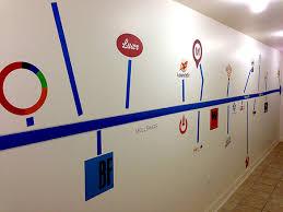 Walls360 Blog Custom Vegastech Wall Graphic Timeline For Ticketcake Hq