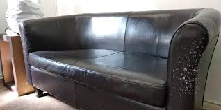 black faux leather sofa 2 seater for