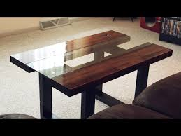 how to attach glass to wood table top