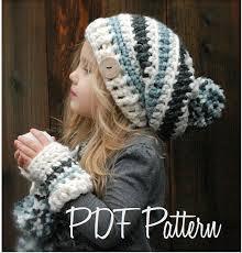 Crochet PATTERN-The Feyona Cap/Mitt Set Toddler Child and | Etsy | Crochet  hats, Knitting, Crochet patterns