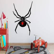 Vwaq Black Widow Wall Decal Spider Vinyl Sticker Peel And Stick Kids D