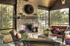 porch fireplace decor daringroom