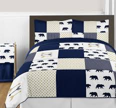 navy blue gold and white big bear boy