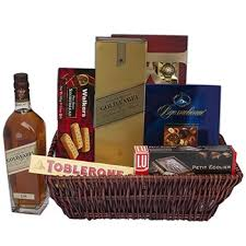 luxury delights gift basket spirits