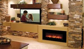 indoor electric fireplace linear