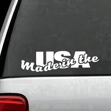 Made In The Usa Car American Truck Window Wall Laptop Vinyl Decal Sticker Car Accessories Motorcycle Helmet Car Styling Car Stickers Aliexpress