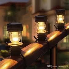 2020 Solar Post Cap Light For Wrought Iron Fence Granny Retro Solar Barn Lantern Solar Stake Lights For Outdoor Garden From Chrissy9421 19 02 Dhgate Com