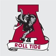 Amazon Com Alabama Crimson Tide Classic Al W A Roll Tide Scroll 6 Vinyl Decal Car Truck Sticker Everything Else