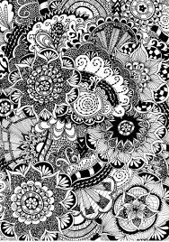 Free Coloring Page For Adults Flowers With Doodles Zentangle