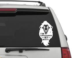 Amazon Com Disney Car Decal Scar Car Decal Lion King Car Decal Disney Wall Sticker Disney Decor Surrounded By Idiots Funny Car Decal Home Kitchen