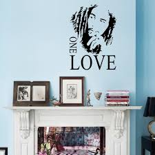 Bob Marley One Love Mural Removable Decal Room Wall Sticker Vinyl Art Decor Home Decal Diy Wall Sayings Wall Slicks From Langru1002 9 05 Dhgate Com