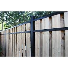 2 In X 3 In X 8 Ft Black Aluminum Fence Rail Kit Black Powder Coated Backyard Fences Aluminum Fence Fence Design