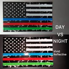 Exterior Accessories Truck Hard Hat 3 Pairs 3x5 In American Usa Flag Decal Sticker For Car Support Police Fire Officer Military Troops Creatrill Reflective Distressed Thin Blue Red Green Line Decal Matte