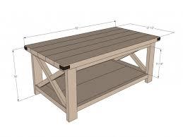 furnitures standard coffee table