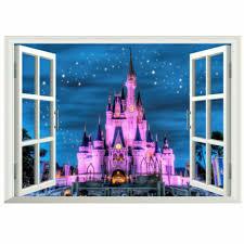 Disney Land Princess Castle 3d Window Wall Decal Kids Sticker Girls Home Decor For Sale Online Ebay