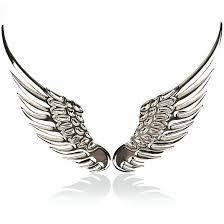 3d Dimensional Alloy Metal Car Stickers Angel Hawk Wings Emblem Badge Decal Car Logo Sticker Golden Silver Color Optiona Car Stickers Silver Silver Accessories
