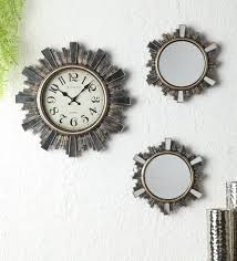 mirror wall clock by exim decor