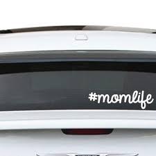 Momlife Mom Gift Hashtag Van Car Window Or Wall Vinyl Decal Sticker Customvinyldecor Com