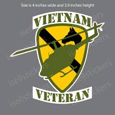 1st Cavalry Division Vietnam Veteran Army Bumper Sticker Window Decal