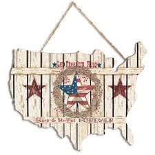 Shop Let Freedom Ring By Linda Spivey Printed Wall Art On A Usa Shaped Wood Overstock 21280769