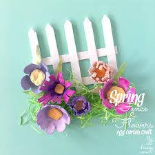 Spring Popsicle Stick And Egg Carton Craft