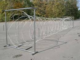 Mobile Security Barrier As Temporary Fence For Quick Installation