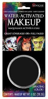 black water activated makeup