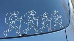 Customize Stick Family Hiker Family Vinyl Bumper Stickers Personalized Hiking Family Car Decals By Love Vinyl Bumper Stickers Bumper Stickers Family Car Decals