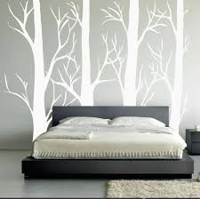 Amazon Com Large Wall Vinyl Tree Forest Decal Birch Aspen Removable Sticker Nursery Decor 1310 108 9ft Tall Matte White Home Improvement