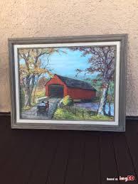 The old covered bridge lancaster pa. artist madge smith original ...